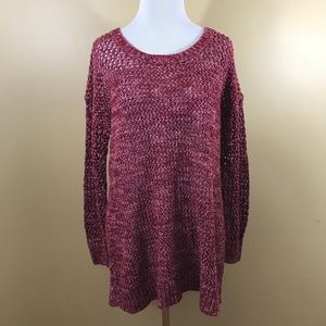 Lucky Brand Sweater Chunky Knit pink